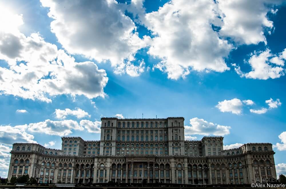 parliament palace from bucharest