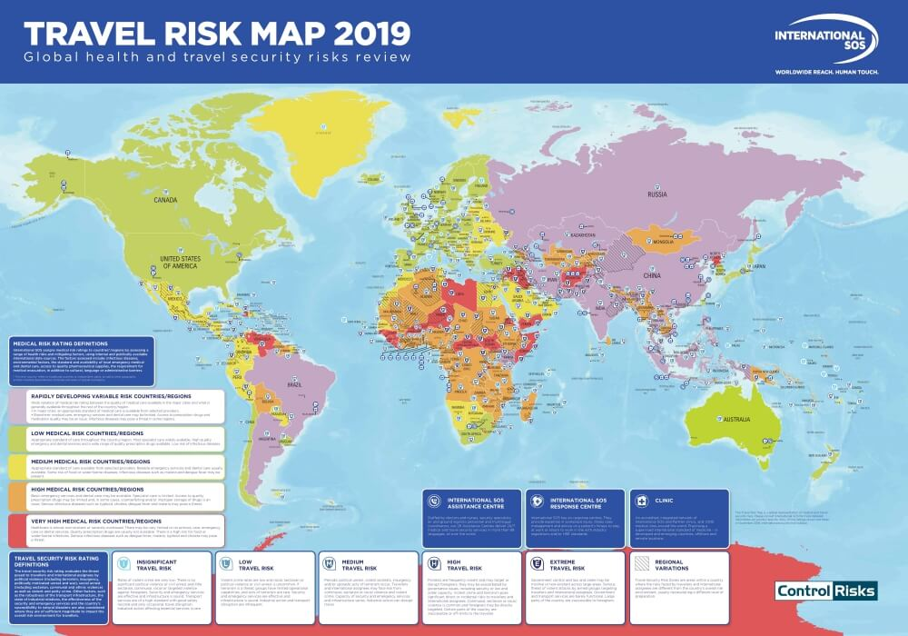 Travel Risk Map 2019