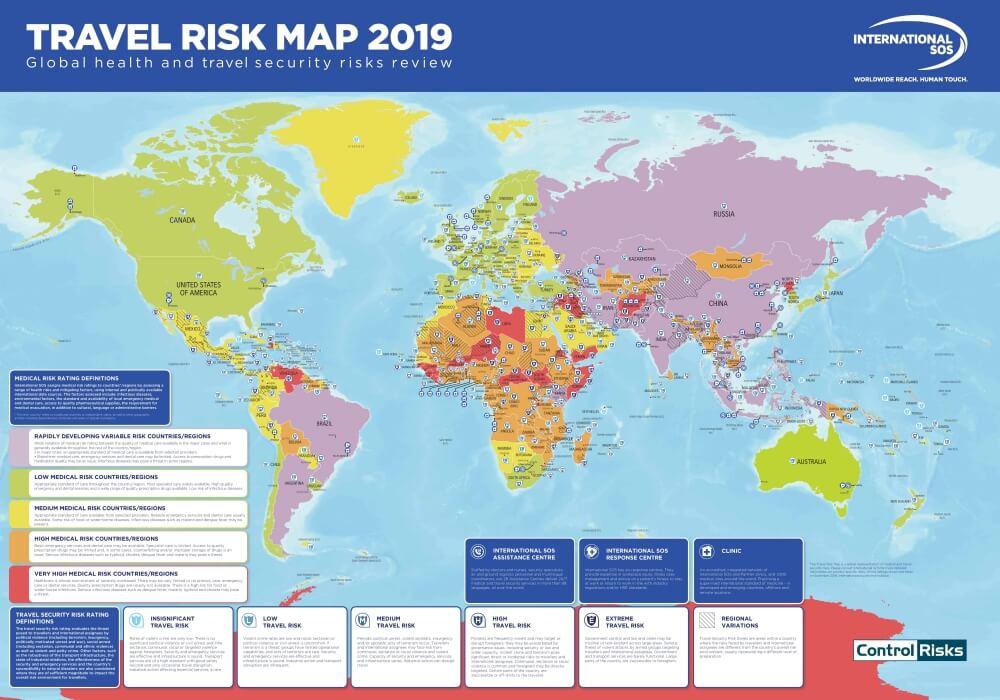 Travel Risk Map 2019